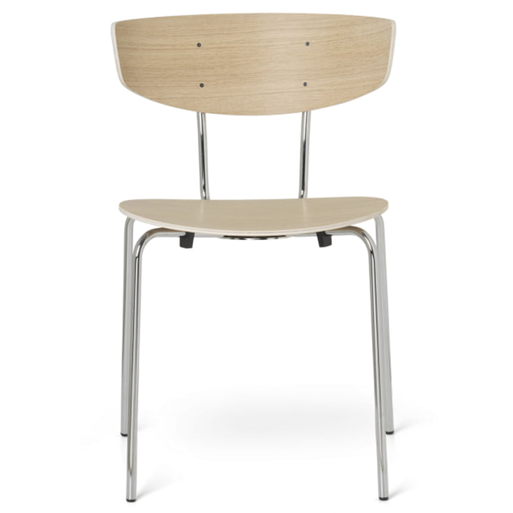The Herman Chair by ferm Living in oak / chrome