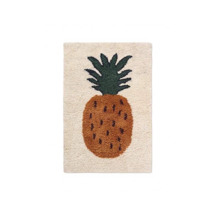 "The Fruiticana carpet ""Pineapple"" by ferm Living, 80 x 120 cm"