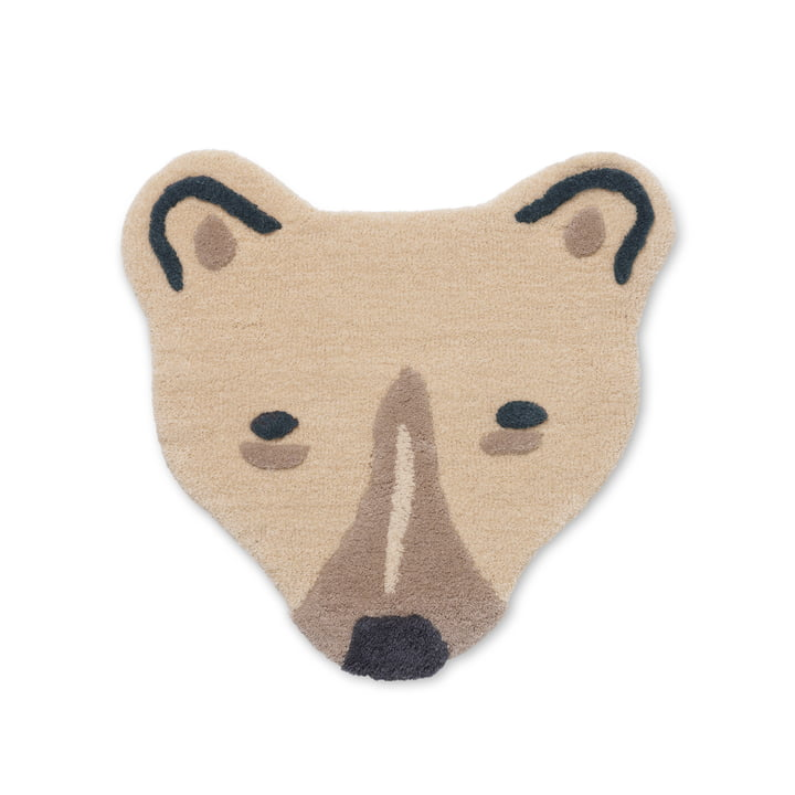 The Tufted Animal children's carpet from ferm Living as a polar bear's head