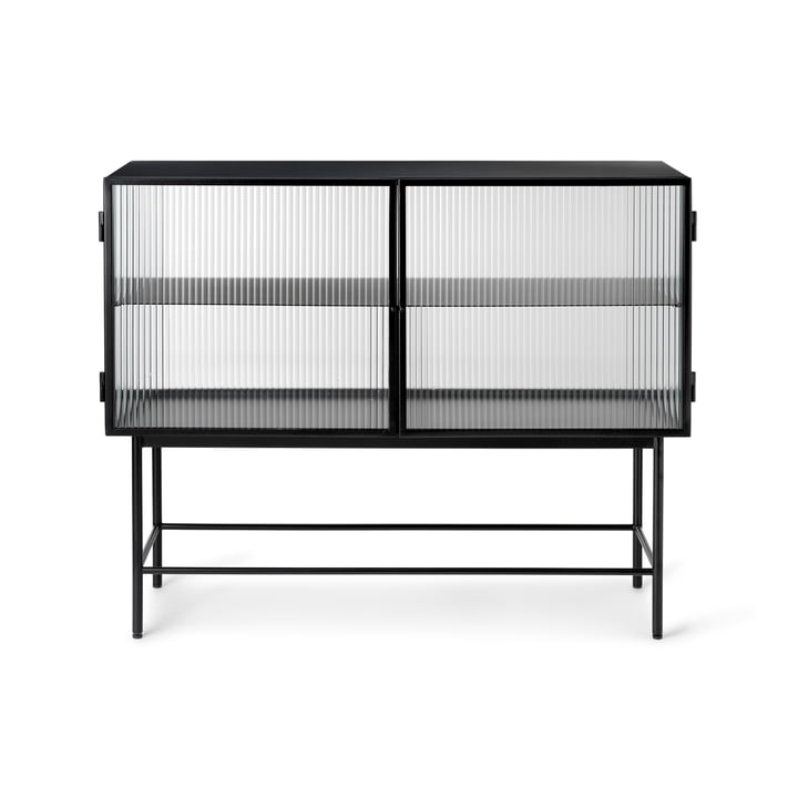 The Haze sideboard by ferm Living in reeded glass, black