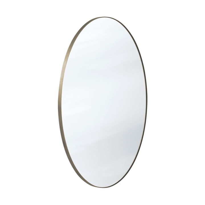 The Amore mirror SC49 from & tradition in bronze / silver