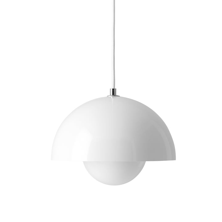 FlowerPot Pendant Lamp by &Tradition in white