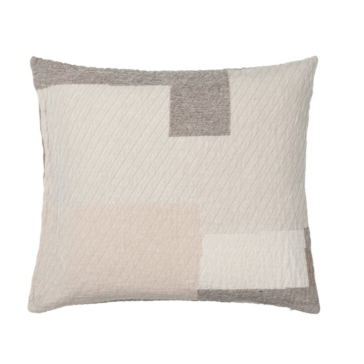 The Patch pillowcase from Broste Copenhagen in beige / brown