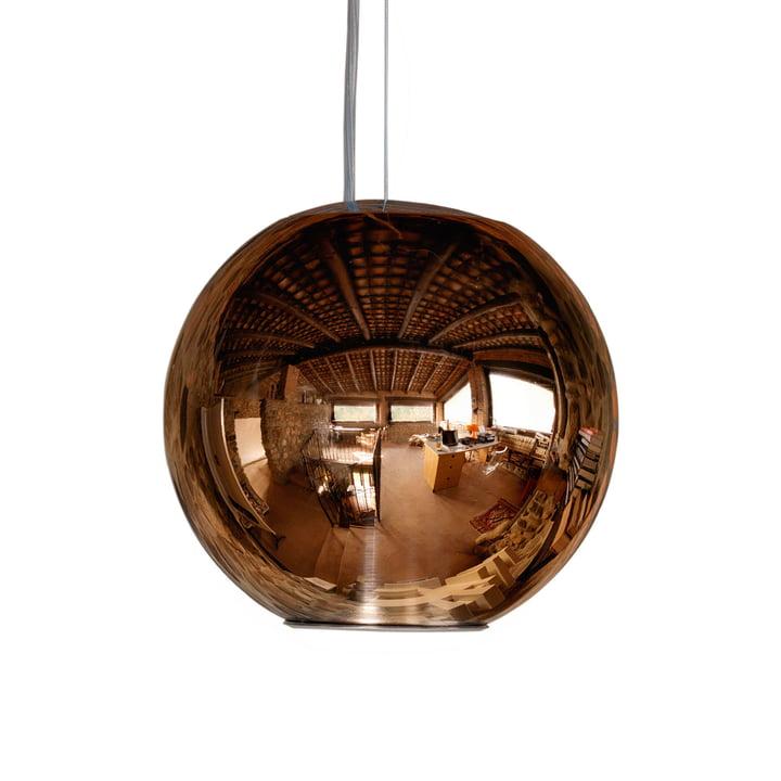 Globo di Luce Pendant Lamp ø 45 cm by FontanaArte in copper