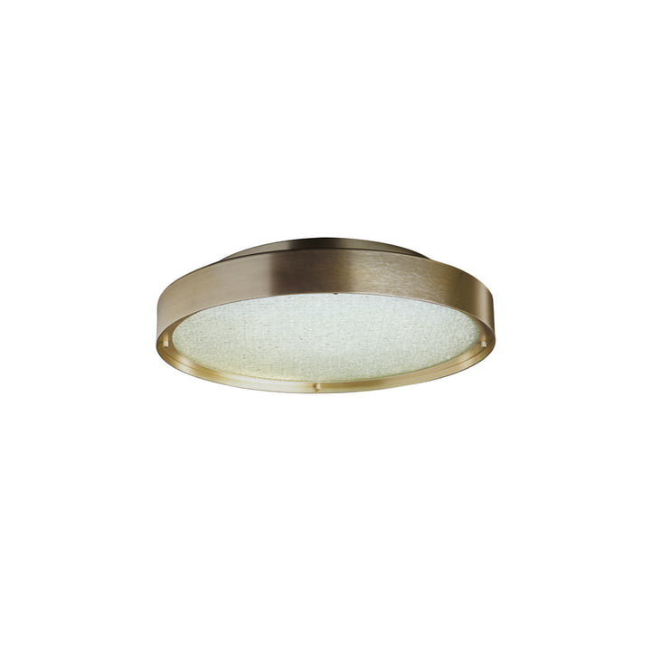 Berlin LED wall and ceiling lamp Ø 30 cm, gold by Oluce
