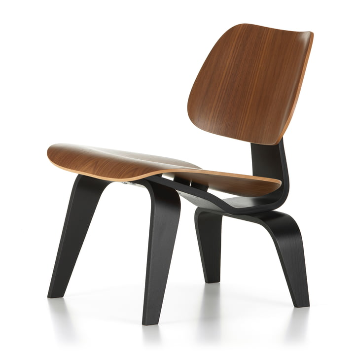Plywood Group LCW, Walnut black pigmented / Ash black (7 5. Anniversary Edition) by Vitra