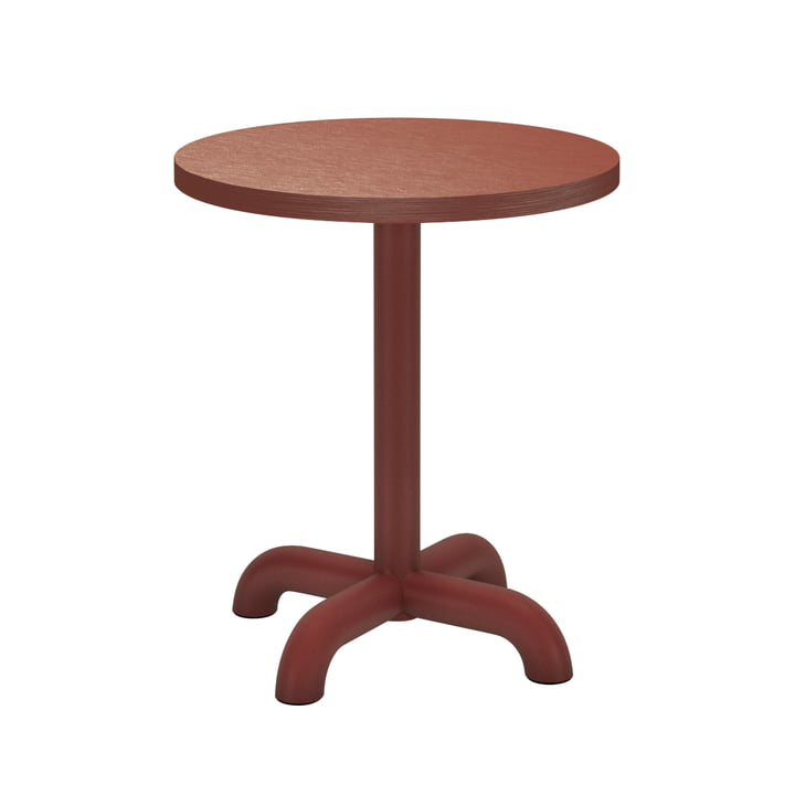 The Unify side table from Petite Friture , Ø 40 cm, red-brown