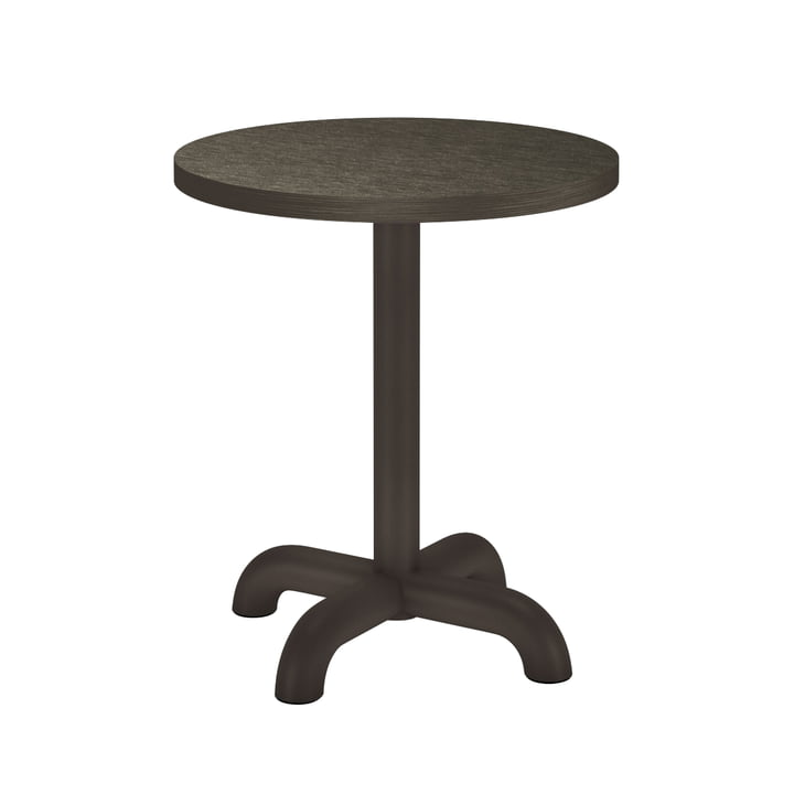 The Unify side table from Petite Friture , Ø 40 cm, grey brown