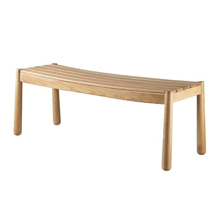 The J171 bench from FDB Møbler in natural oak