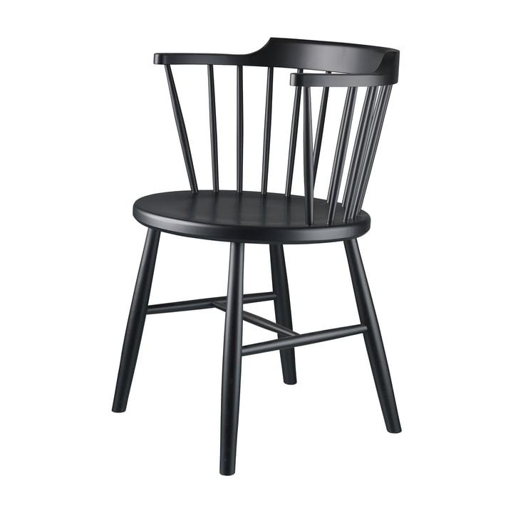 J18 Chair from FDB Møbler Beech black
