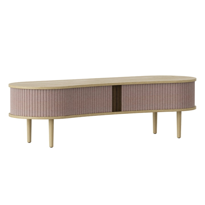 The Audacious TV bench from Umage in oak / dusty rose