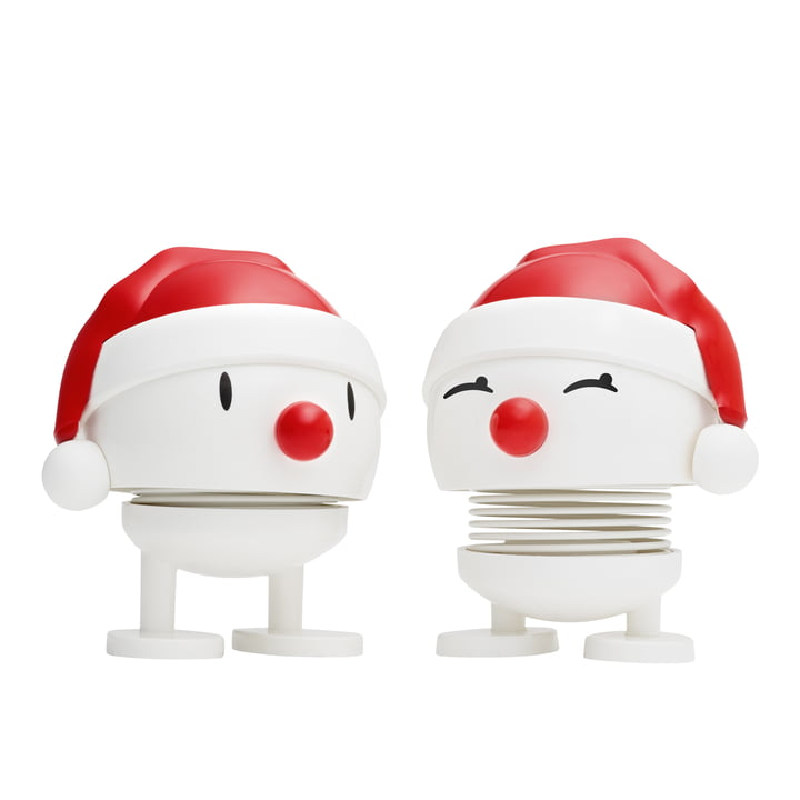 Nosy Santa, small / white (set of 2) from Hoptimist