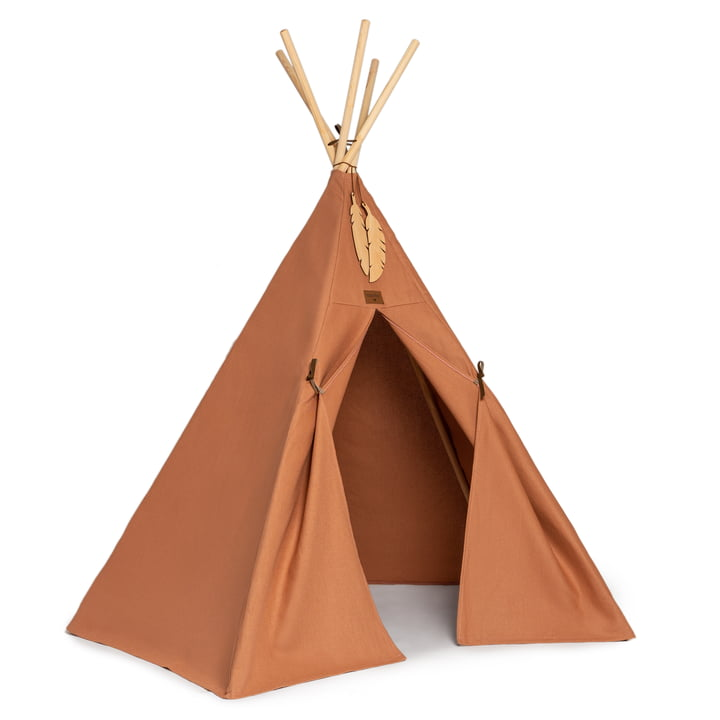 The Nevada Tipi tent of Nobodinoz in sienna brown