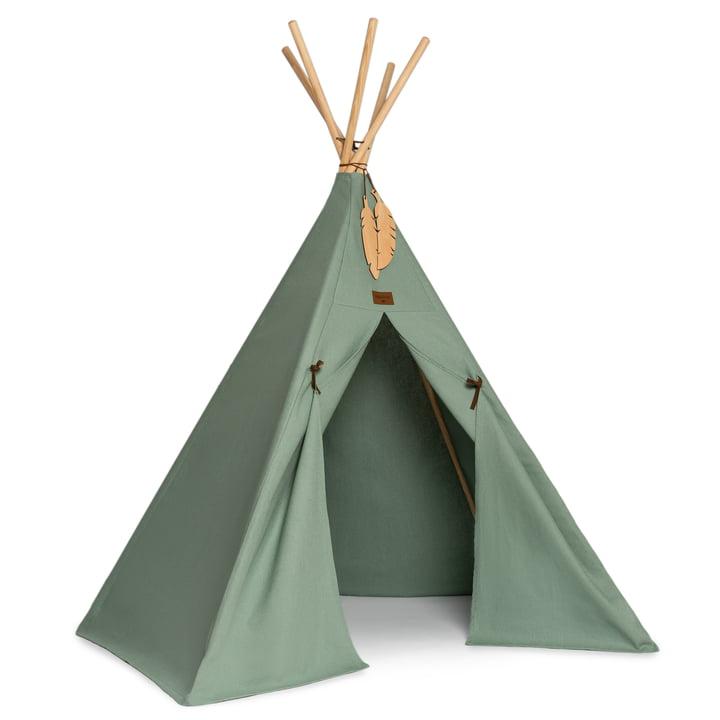 The Nevada Tipi tent of Nobodinoz in eden green