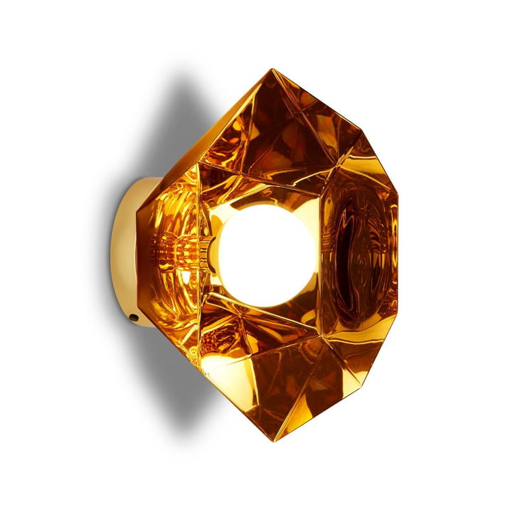 Cut Wall lamp, gold by Tom Dixon