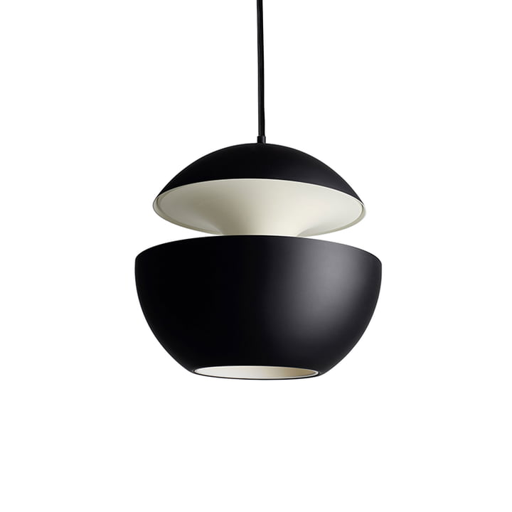 Here Comes The Sun 250 Pendant Lamp, black / white from DCW