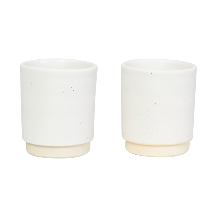 Otto cup, Ø 7 cm, white (set of 2) from Frama