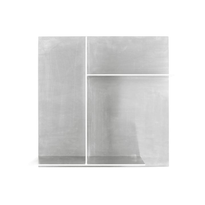 Rivet Typecase Wall shelf, aluminium from Frama