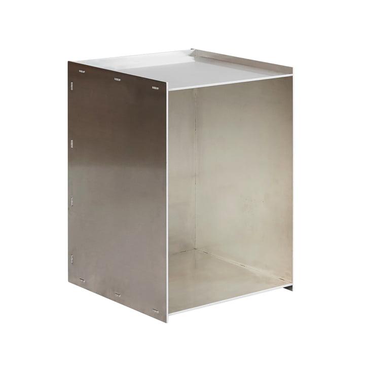 Rivet Box Side table, aluminium from Frama