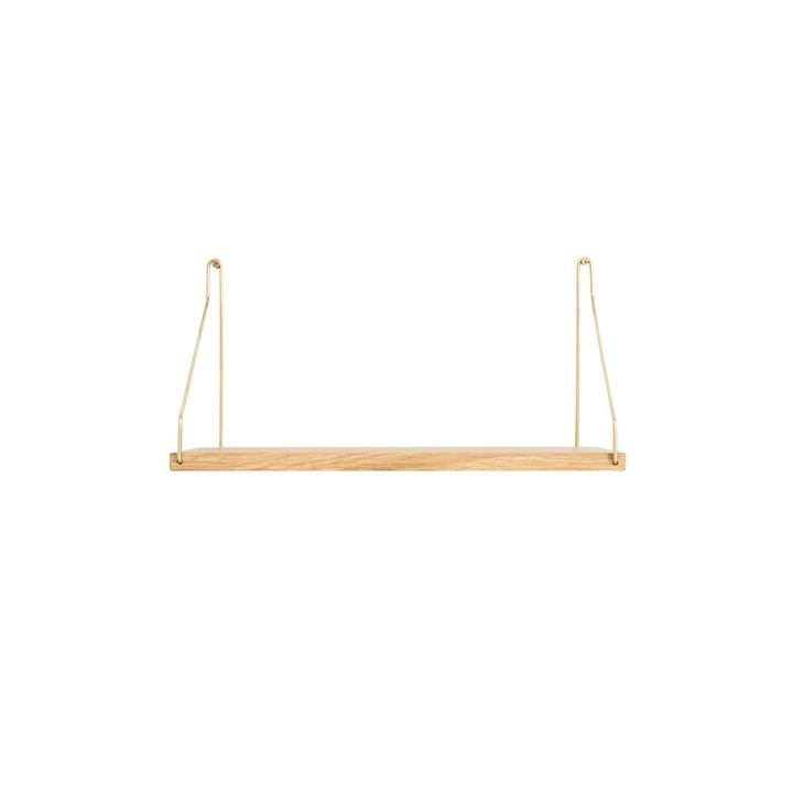 Shelf Shelf 40 x 20 cm, oak / brass from Frama