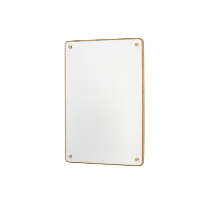 RM-1 Rectangular Mirror H 58 cm, oak oiled by Frama