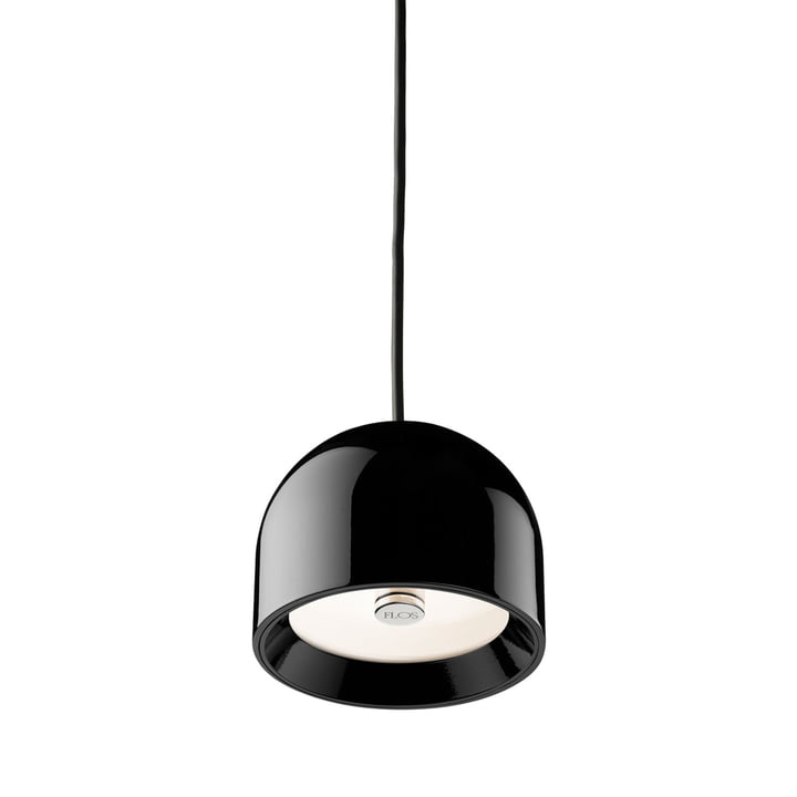 The Wan S pendant luminaire from Flos in glossy black