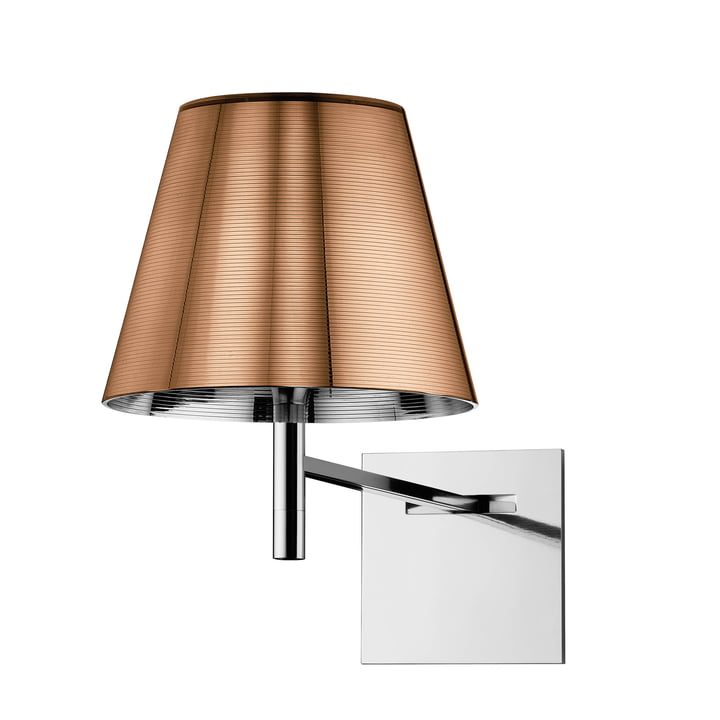 The K Tribe wall light from Flos in aluminized bronze