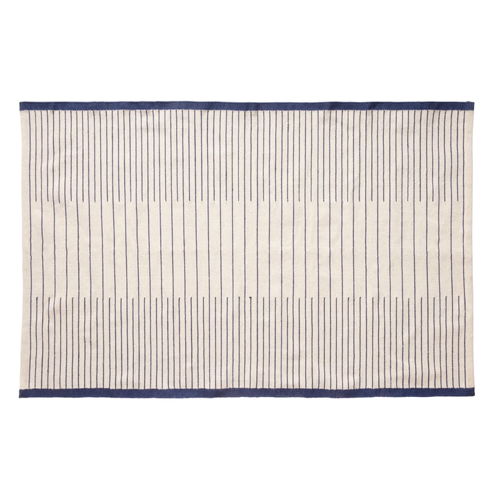 Woven carpet 120 x 180 cm, blue / white from Hübsch Interior