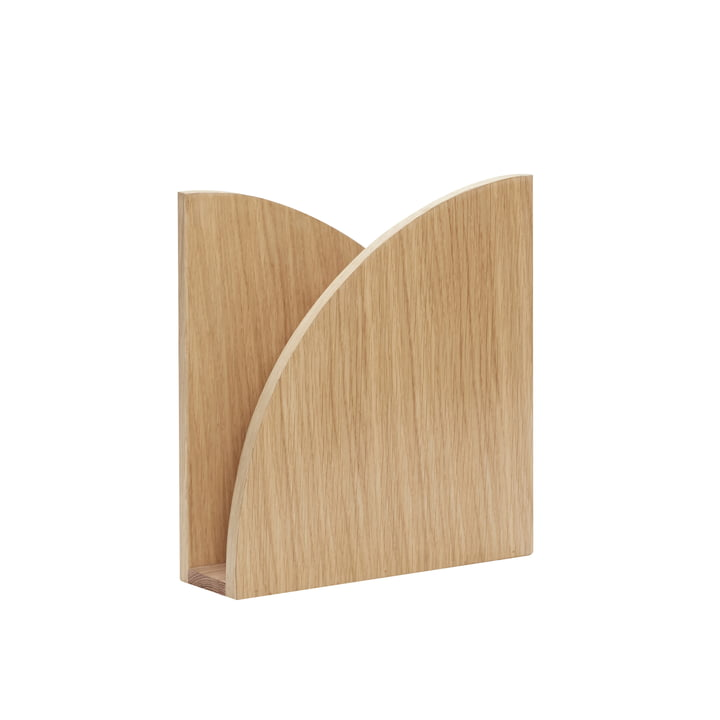 Folded Magazine collector, oak, natural from Hübsch Interior