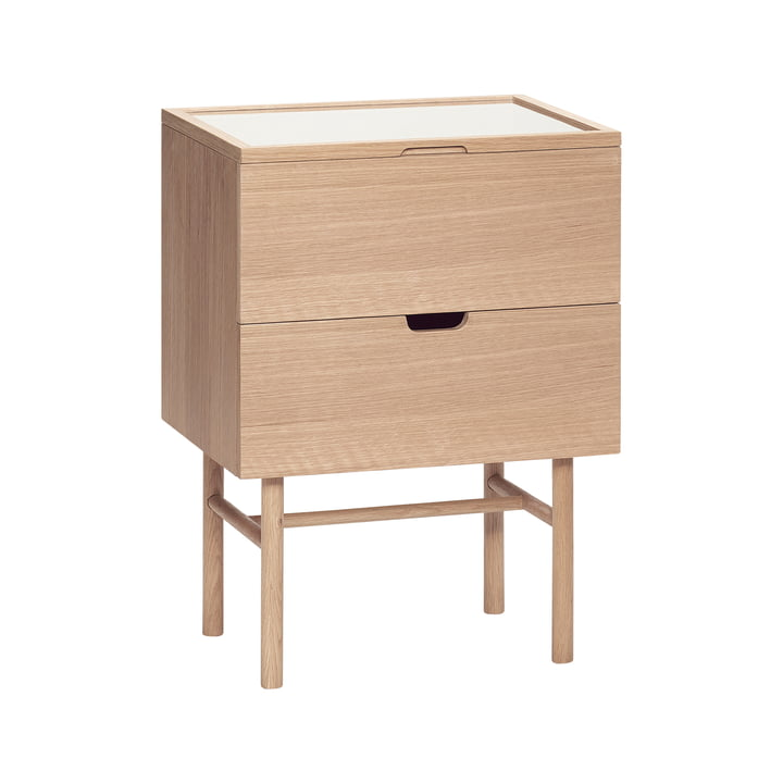Side table with 2 compartments, oak, natural from Hübsch Interior