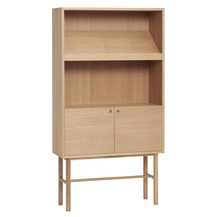 chest of drawers with magazine shelf, oak, natural from Hübsch Interior