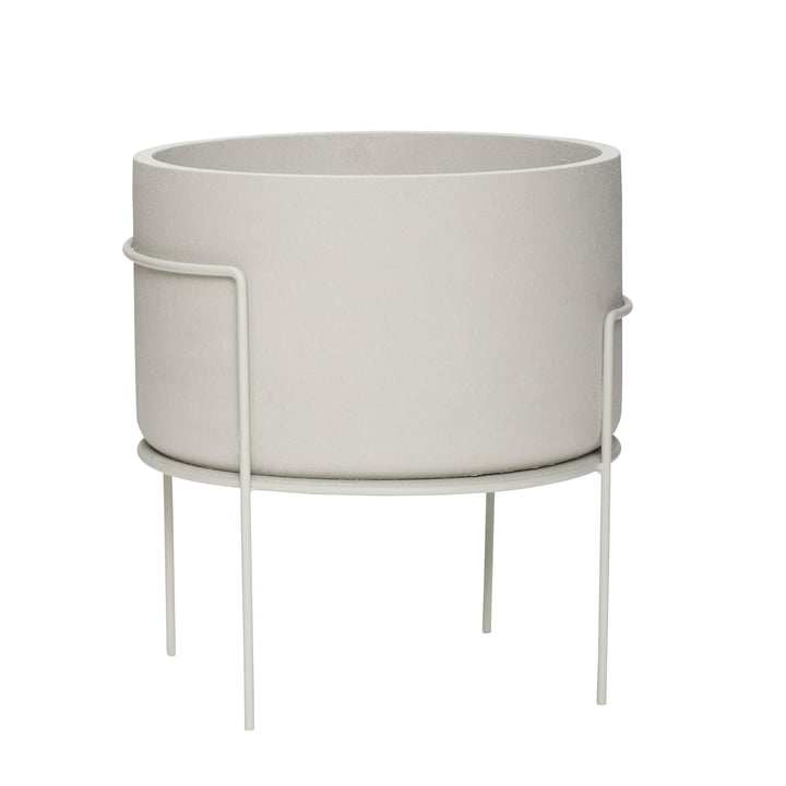 The plant pot with foot from Hübsch Interior in grey