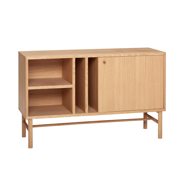 chest of drawers with shelves, oak, natural from Hübsch Interior