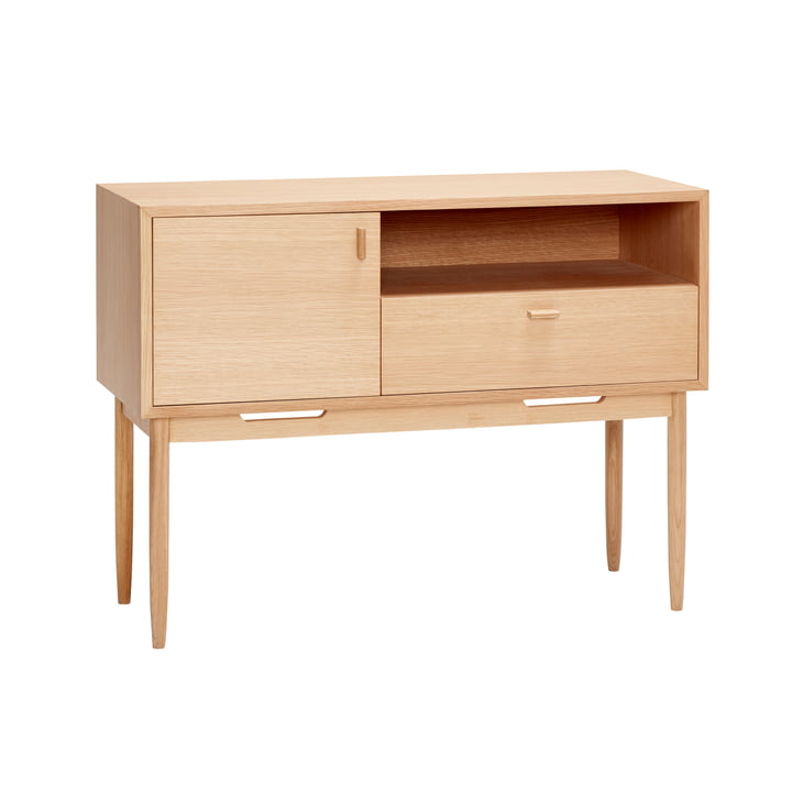 chest of drawers with 3 compartments, oak, natural from Hübsch Interior