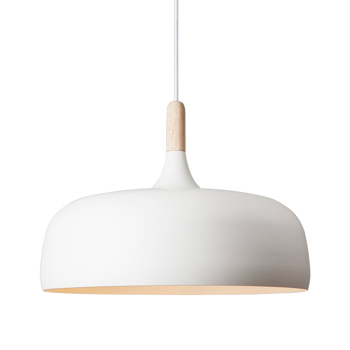 The Acorn Pendant Lamp by Northern in white