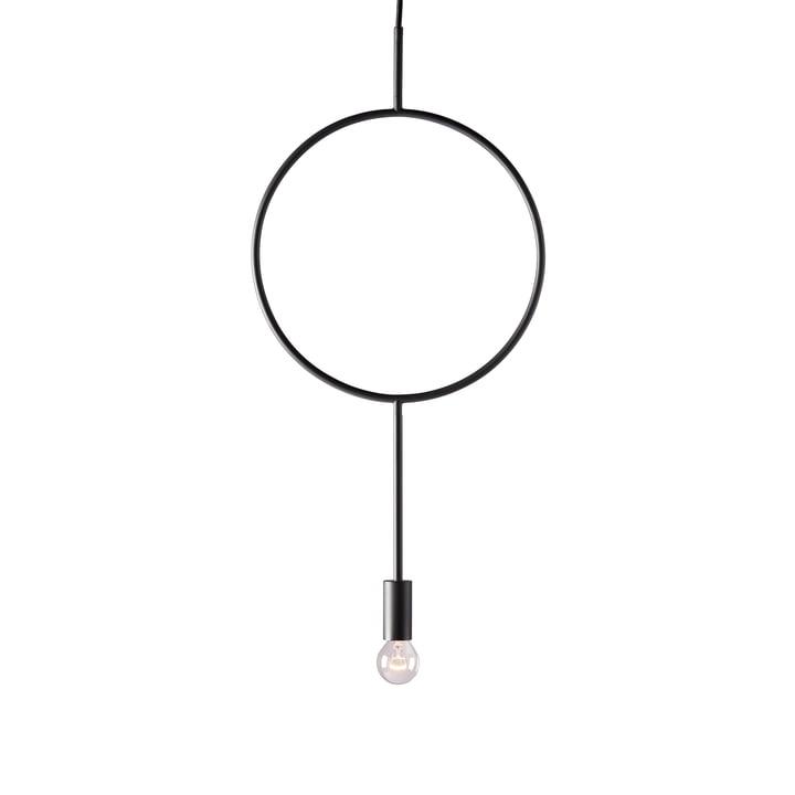 The Circle pendant luminaire from Northern in dark grey matt