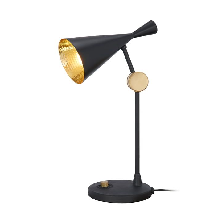 Beat table lamp by Tom Dixon in black
