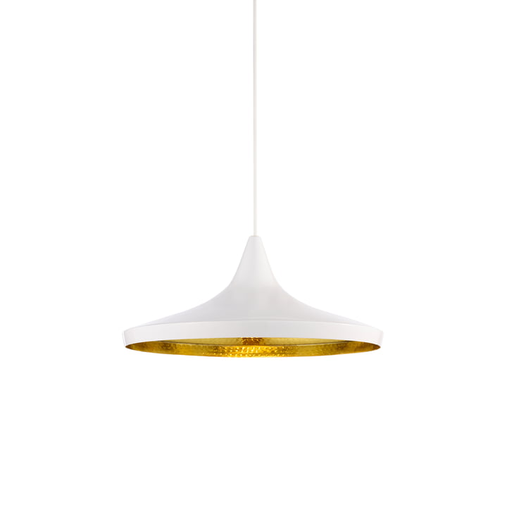 Beat Light Wide Pendant Lamp by Tom Dixon in White