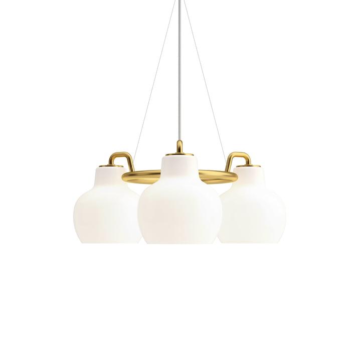 VL Ring Crown 3 chandelier by Louis Poulsen in brass / white