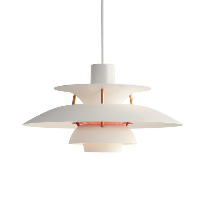 PH 5 Mini pendant lamp by Louis Poulsen in modern white