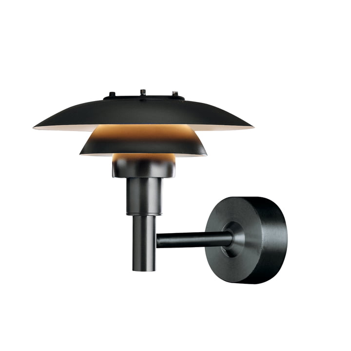 PH 3-2½ wall lamp (outdoor) by Louis Poulsen in black