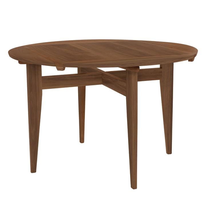 B-Table Ø 116 cm, walnut oiled by Gubi