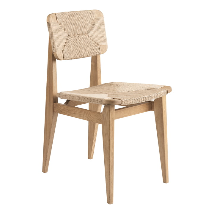 C-Chair Dining Chair Paper Cord , Oak oiled by Gubi