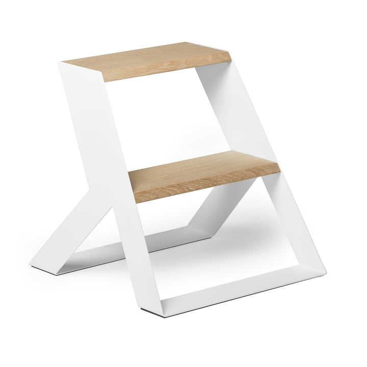 Split Step Step ladder from Frederik Roijé in oak / white