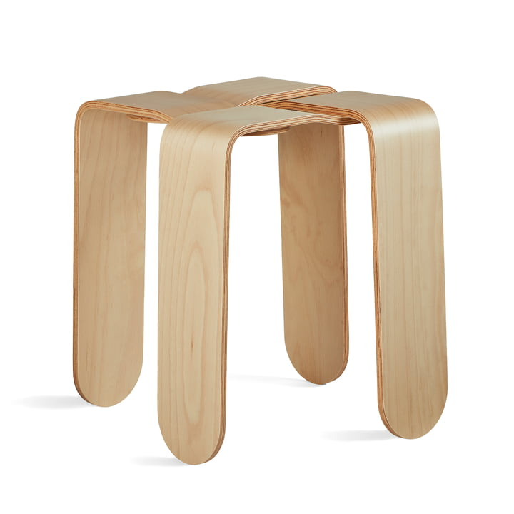 The Criss Cross stool from Frederik Roijé in beech nature