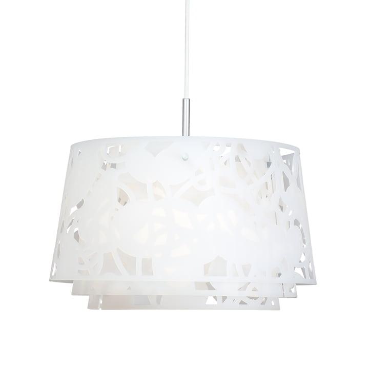 Collage 600 pendant lamp by Louis Poulsen in white matt