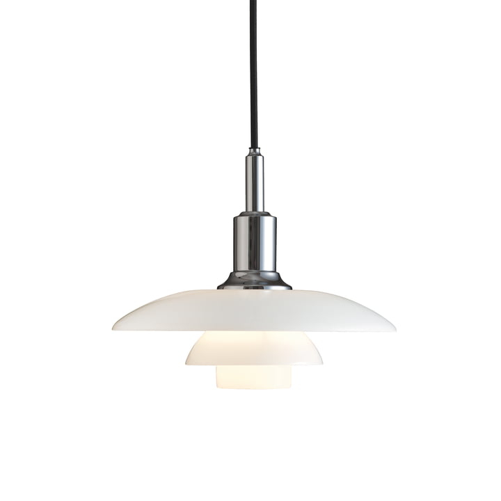 PH 3/2 pendant luminaire by Louis Poulsen in high-gloss chrome-plated