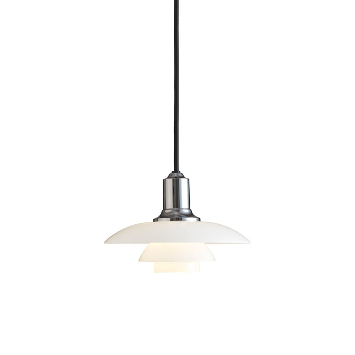 PH 2/1 pendant luminaire by Louis Poulsen in high-gloss chrome-plated
