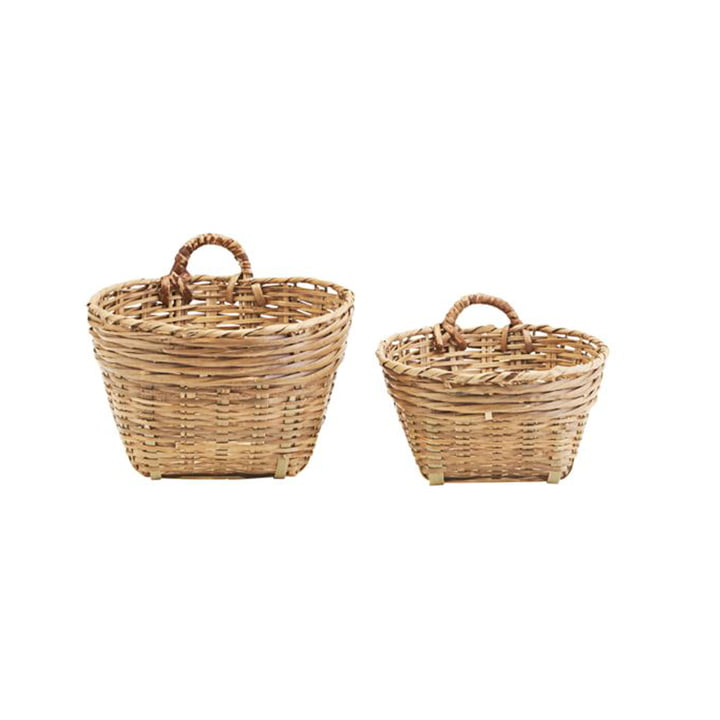 The Tradition storage basket from Meraki in brown, H 20 & H 16 cm