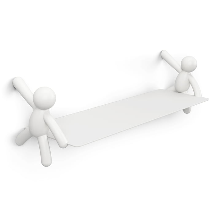 The Buddy wall shelf from Umbra in white, L 46 cm